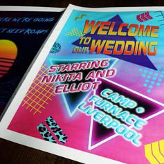 80s themed Wedding + Civil Partnership Order of Service Newspaper   Alternative Wedding Stationery Newspapers