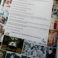 Wedding Order of Service Newspaper   Alternative Wedding Stationery Newspapers