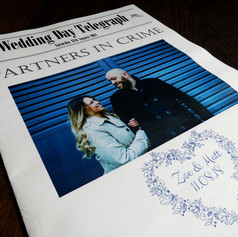 Wedding Order of Service Newspaper | Alternative Wedding Stationery Newspapers