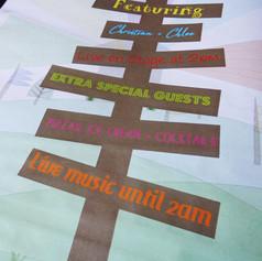 Festival themed Wedding Order of Service Newspaper | Alternative Wedding Stationery Newspapers