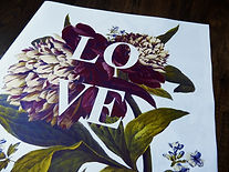 Vintage flower + 'Love' themed Newspaper Alternative, Creative and Bespoke Wedding + Civil Ceremony stationery, Events and Marketing Newspapers