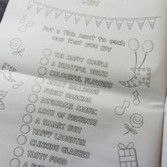 Wedding + Civil Partnership Childrens Activity Pack Newspaper