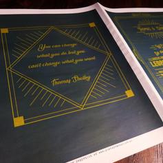 Peaky Blinders theme Wedding Order of Servcice Newspaper | Alternative Wedding Stationery Newspapers
