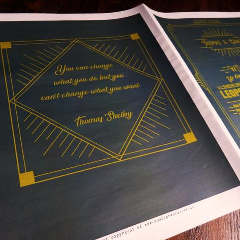 Peaky Blinders theme Wedding Order of Servcice Newspaper   Alternative Wedding Stationery Newspapers