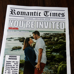 Wedding Newspaper Invitation  | Alternative Wedding Stationery Newspapers