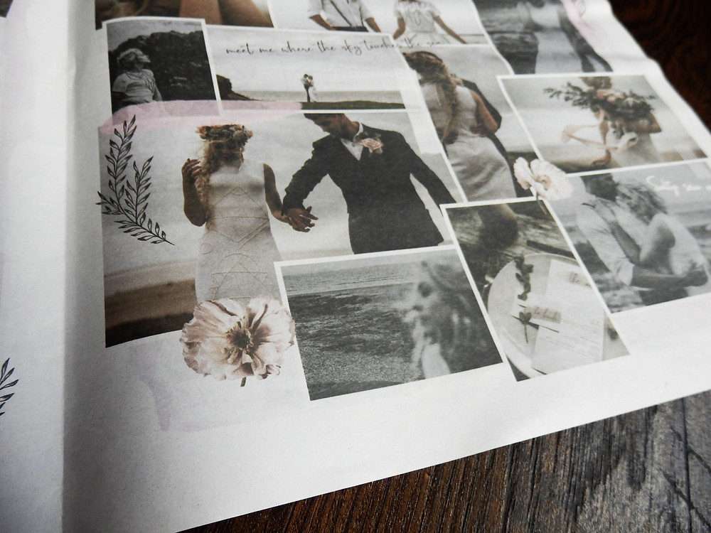 Wedding photo Newspaper