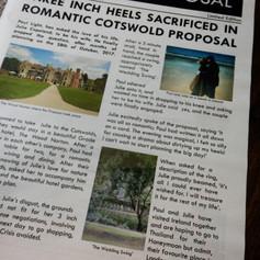 London themed Wedding Invite Newspaper | Alternative Wedding Stationery Newspapers