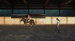 Lesson time for Jessica and Charlie!
