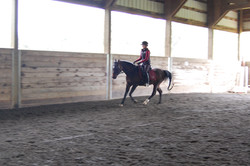 Kellyn at the canter
