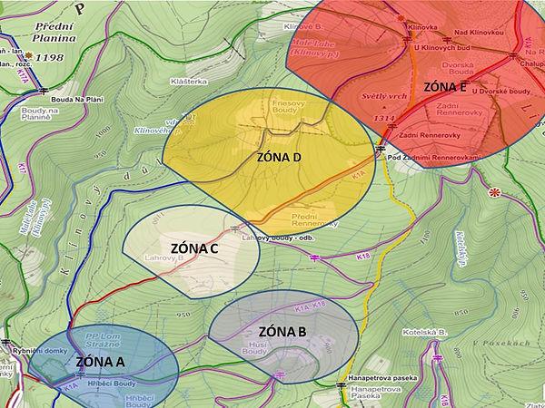 Mapa zón