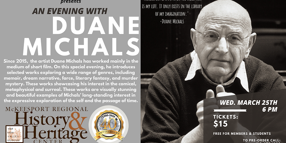 An Evening with Duane Michals