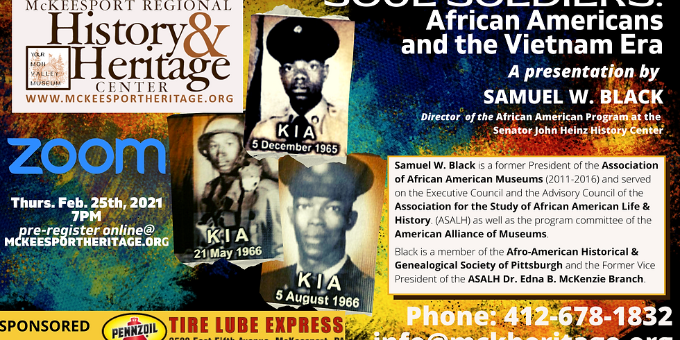Soul Soldiers: African Americans and the Vietnam Era.