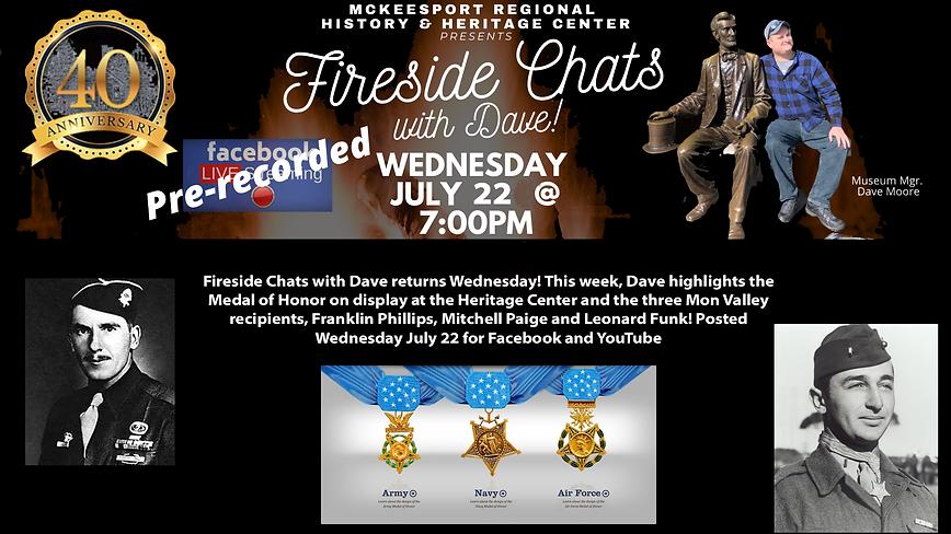Fireside Chats week 11 medal of honor.pn
