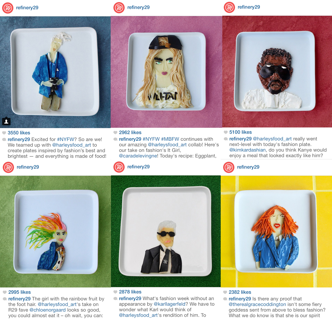 Fashion Week Food Art Portraits