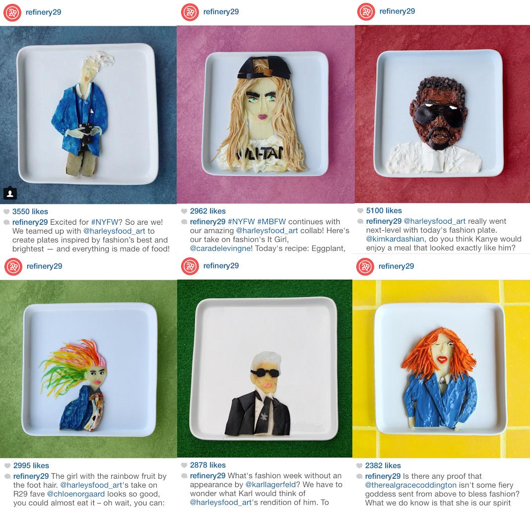 Fashion Week Food Art Portraits