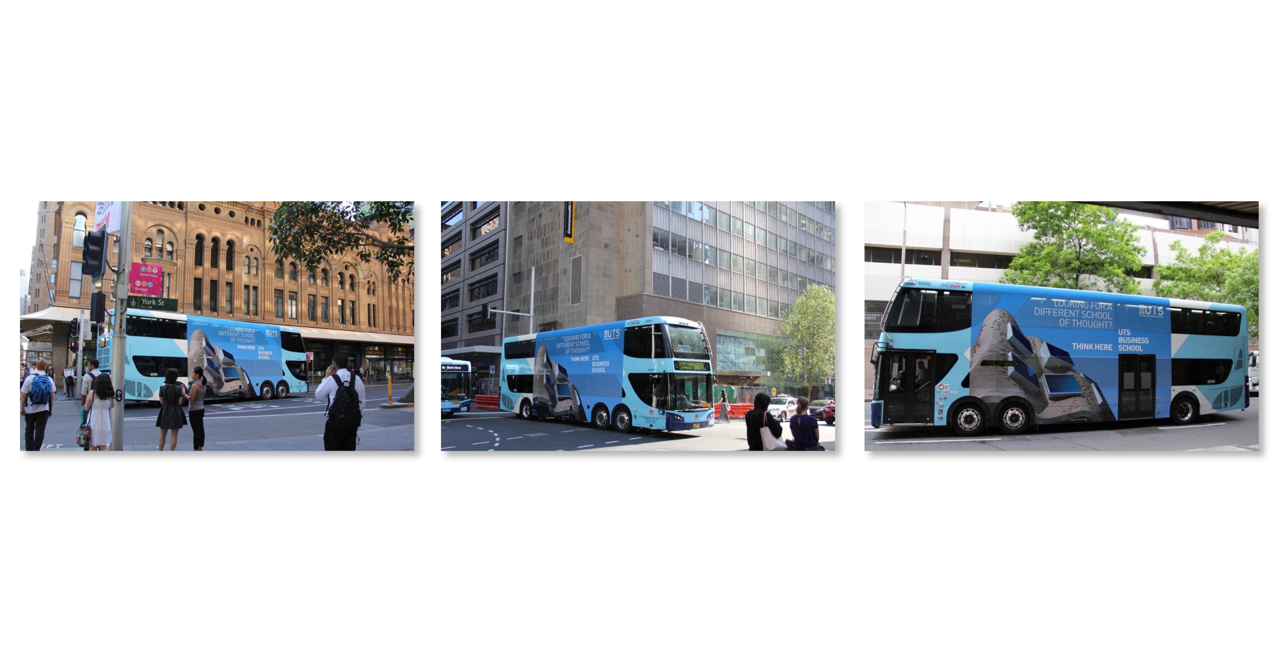 UTS Business School bus wrap