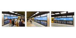 UTS Business School train advertising