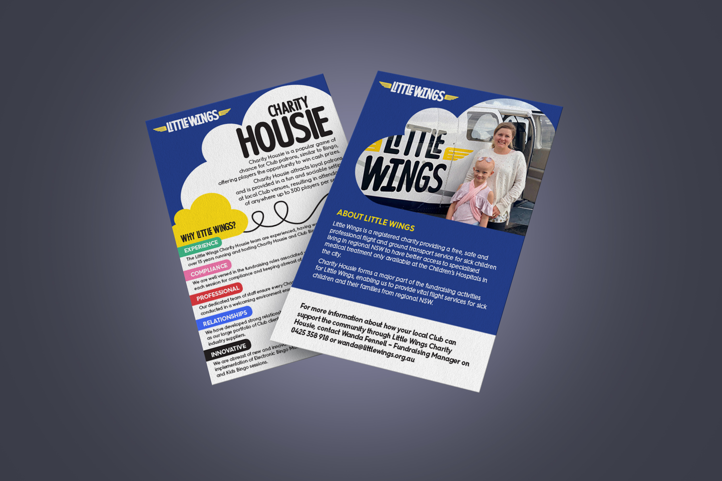 Little Wings Charity Housie A5 flyer