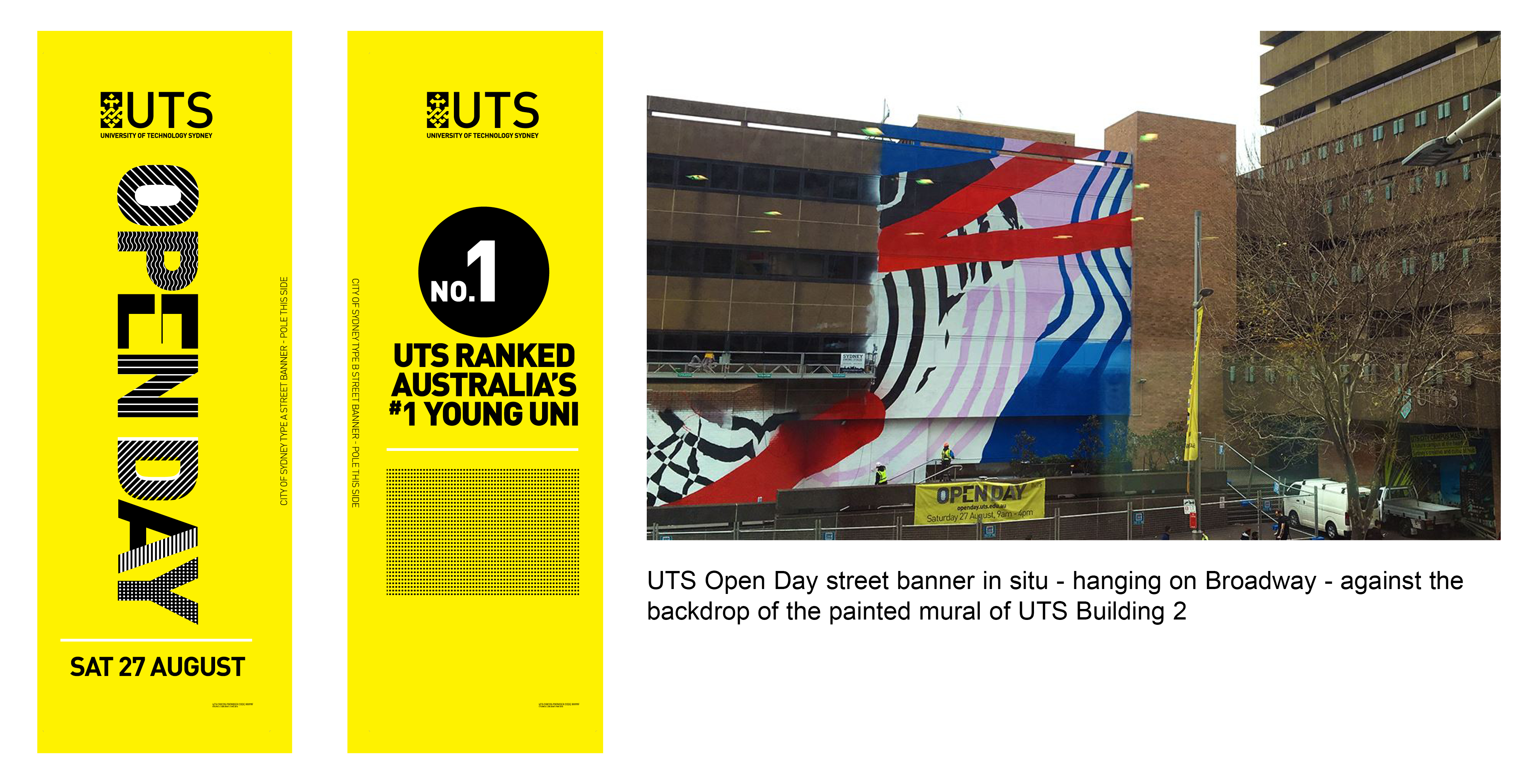 UTS Open Day street banners 2016