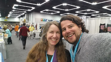 Menefee with alum Matty Layne Glasgow at AWP