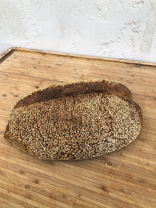 San Benito Sesame 100% Whole Wheat (only available Saturdays)