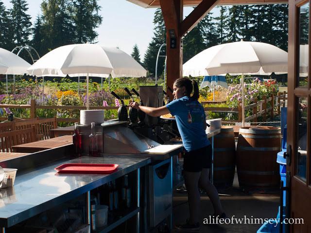 Making Waffles at Kraus Berry Farms