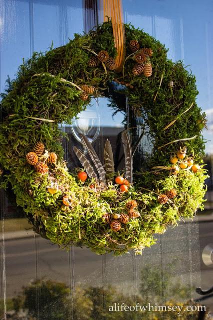 moss wreath front door