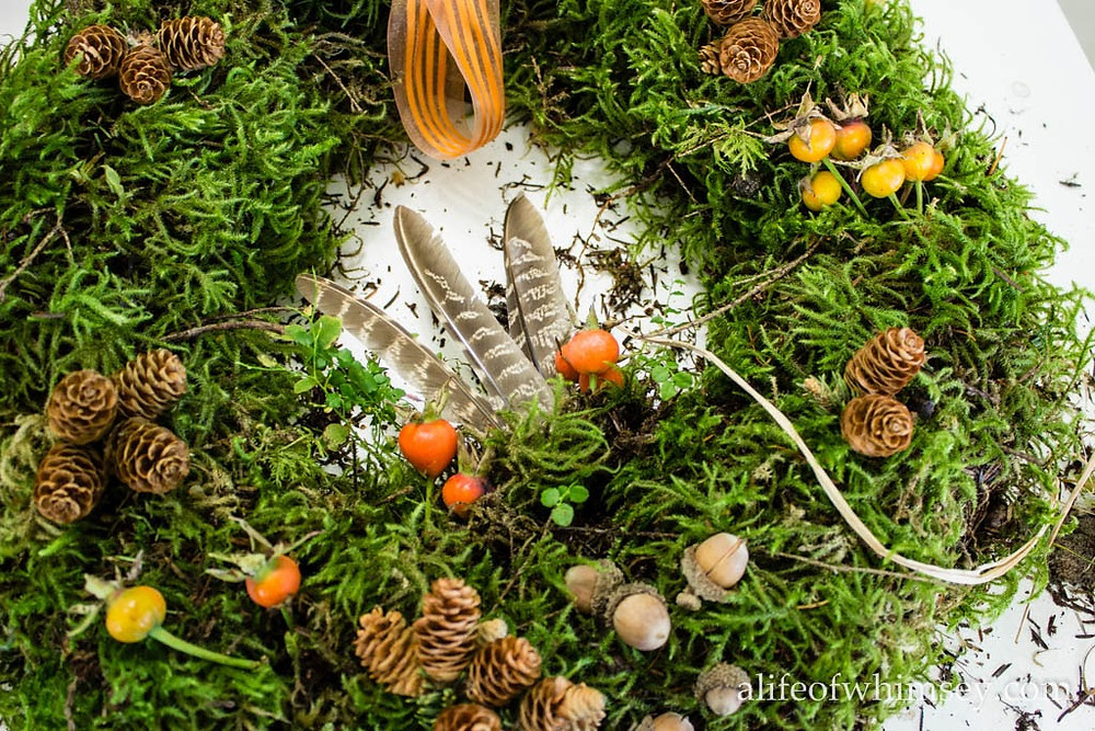 Autumn moss wreath