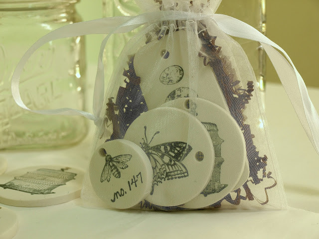 packaged clay tags