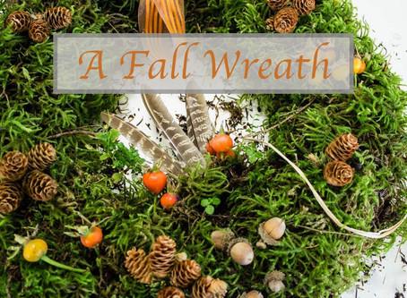 A Fall Moss Wreath