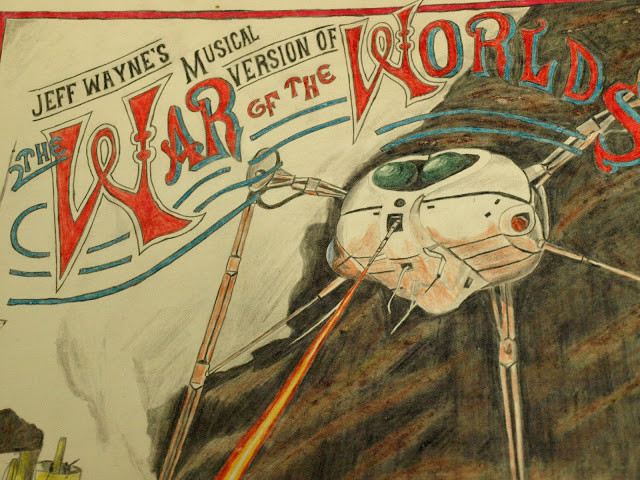 coloured pencil drawing war of the worlds