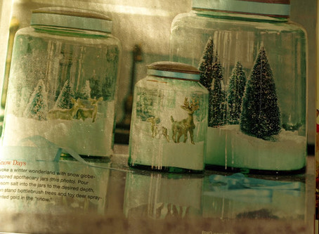 I Am Allowed Back At My Desk!. . . And. . . A Snow Globe Inspired  Cookie Jar