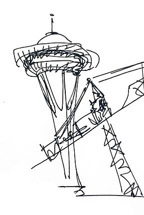 Sketch of space needle