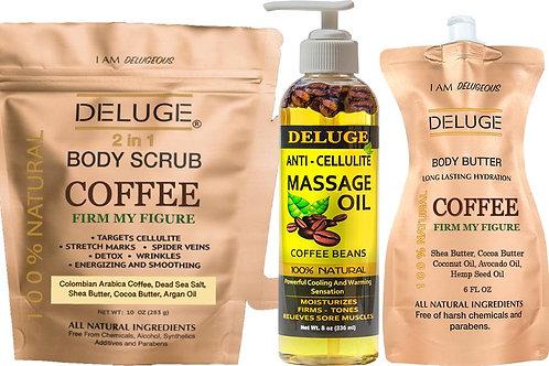 Deluge Cosmetics - Coffee Cellulite Treatment Set