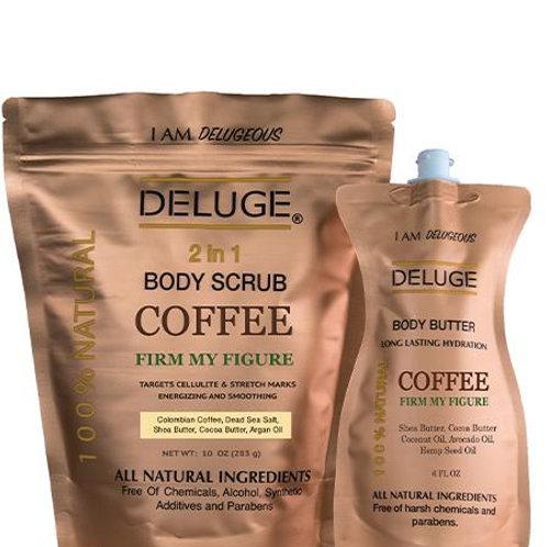 Deluge Deluxe Coffee Scrub + Coffee Butter Healthy Skin Set