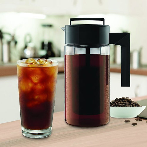 Cold Brew and Iced Coffee Maker with Airtight Seal Non-Slip Silicone Handle
