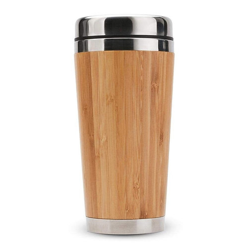 Bamboo Coffee Travel Mug with Stainless Steel Lining