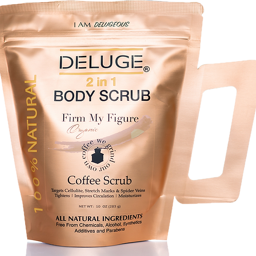 Deluge Cosmetics - Organic Coffee Body and Face Scrub