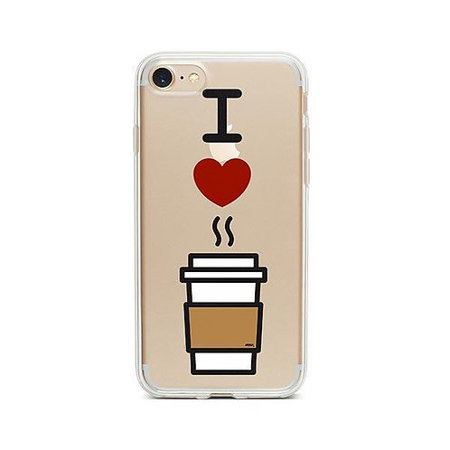 I Love Coffee iPhone 7 Case Clear