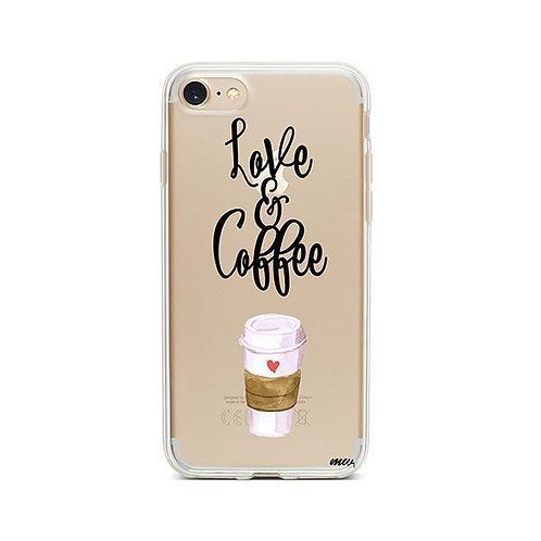 Love and Coffee iPhone 7 Case Clear