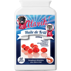 L'huile de krill Atavik pour chien et chat