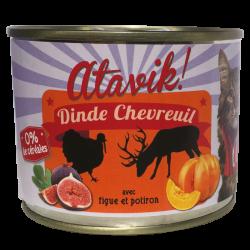 Pâtée dinde-chevreuil avec figue et potiron (6x200g)