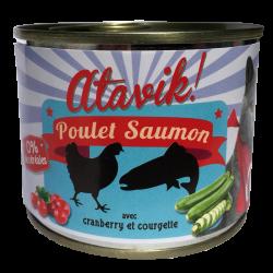 Pâtée poulet-saumon avec cranberry et courgette (6x200g)