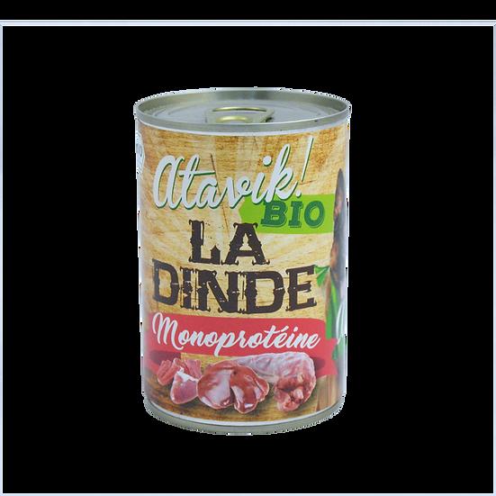 Pâtée bio et monoprotéine à la dinde (6x400g)
