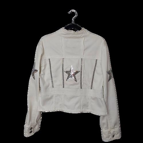 White Star-Spangled Denim Jacket
