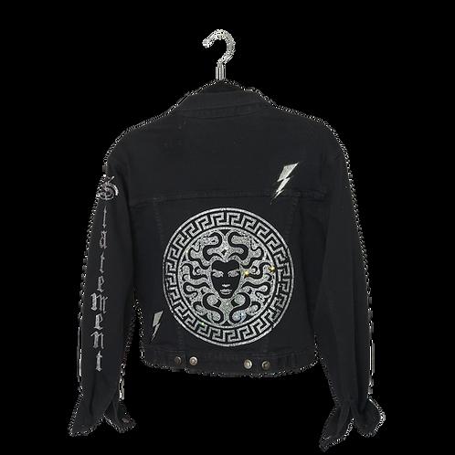 Medusa's Black Denim Jacket