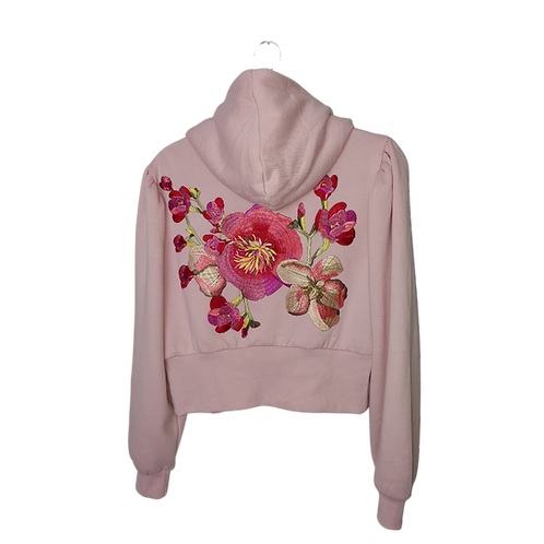 Blossoming Pink Zip Up Hoodie