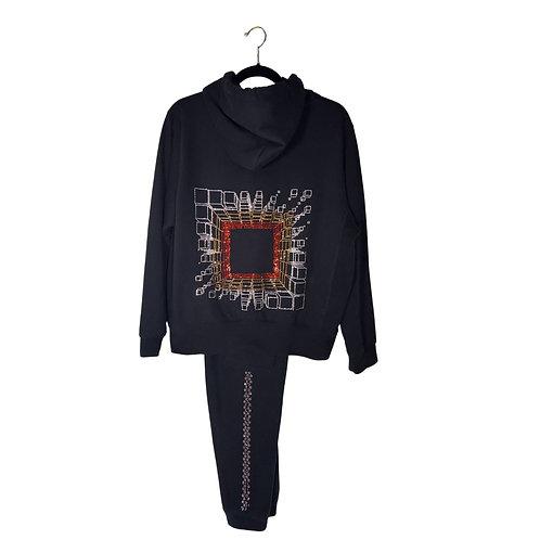 Black Matrix Hoodie Sweatsuit Set