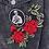 Thumbnail: Distressed Love Black Denim Jacket
