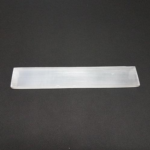 """Selenite Large Ruler Charging Plate - 8"""""""